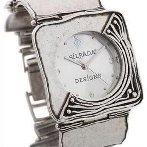 T1472 Silpada Sterling Silver Square Link Watch